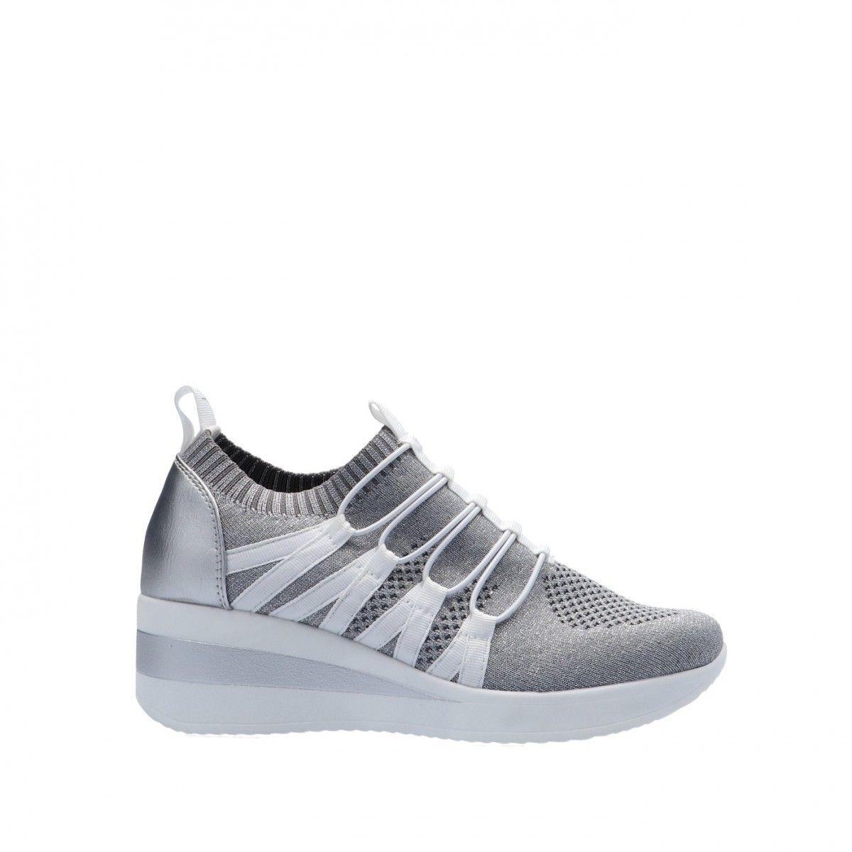 Cinzia soft Sneaker Argento Gomma MH180277 003