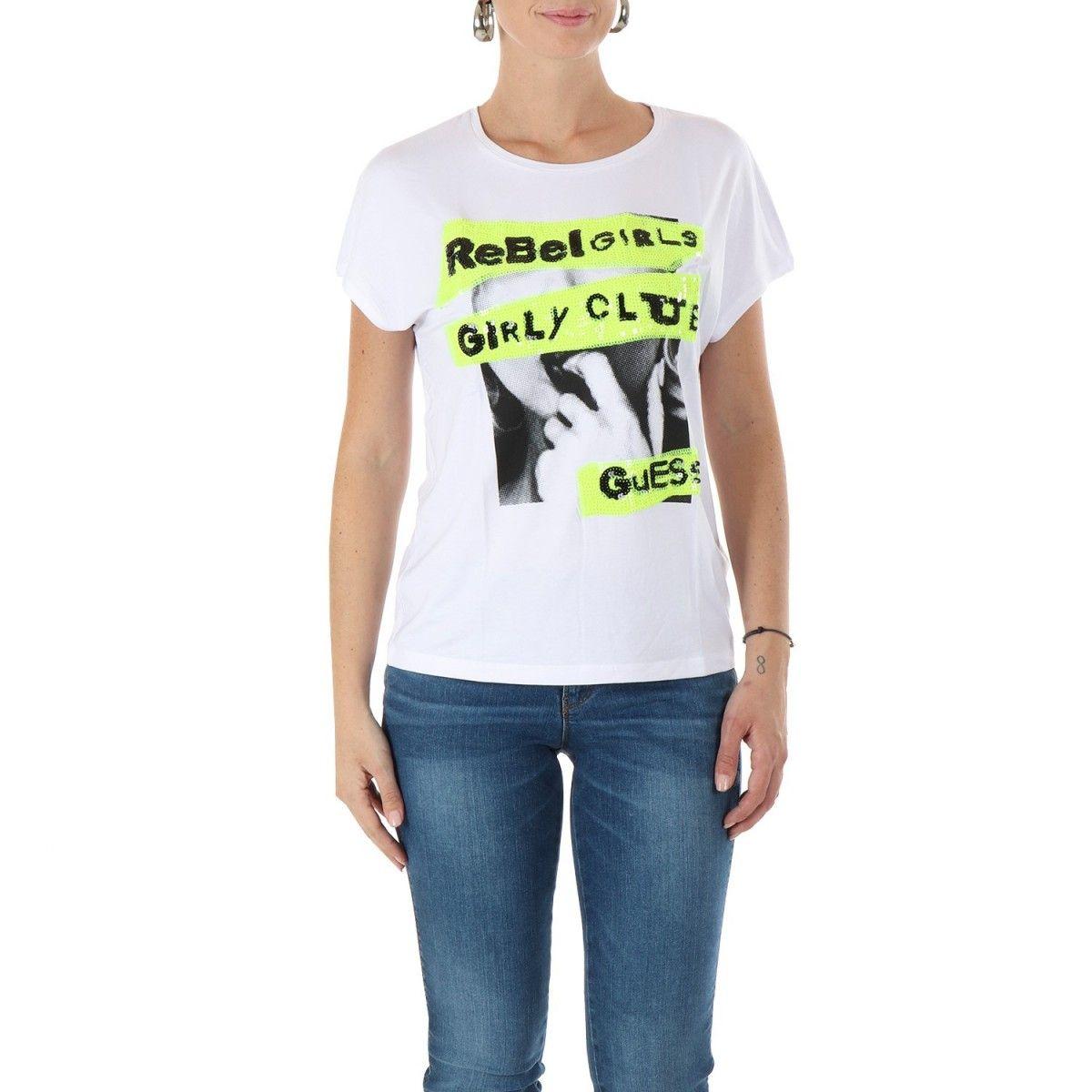 Guess T-shirt Bianco  W0YI95K68D0
