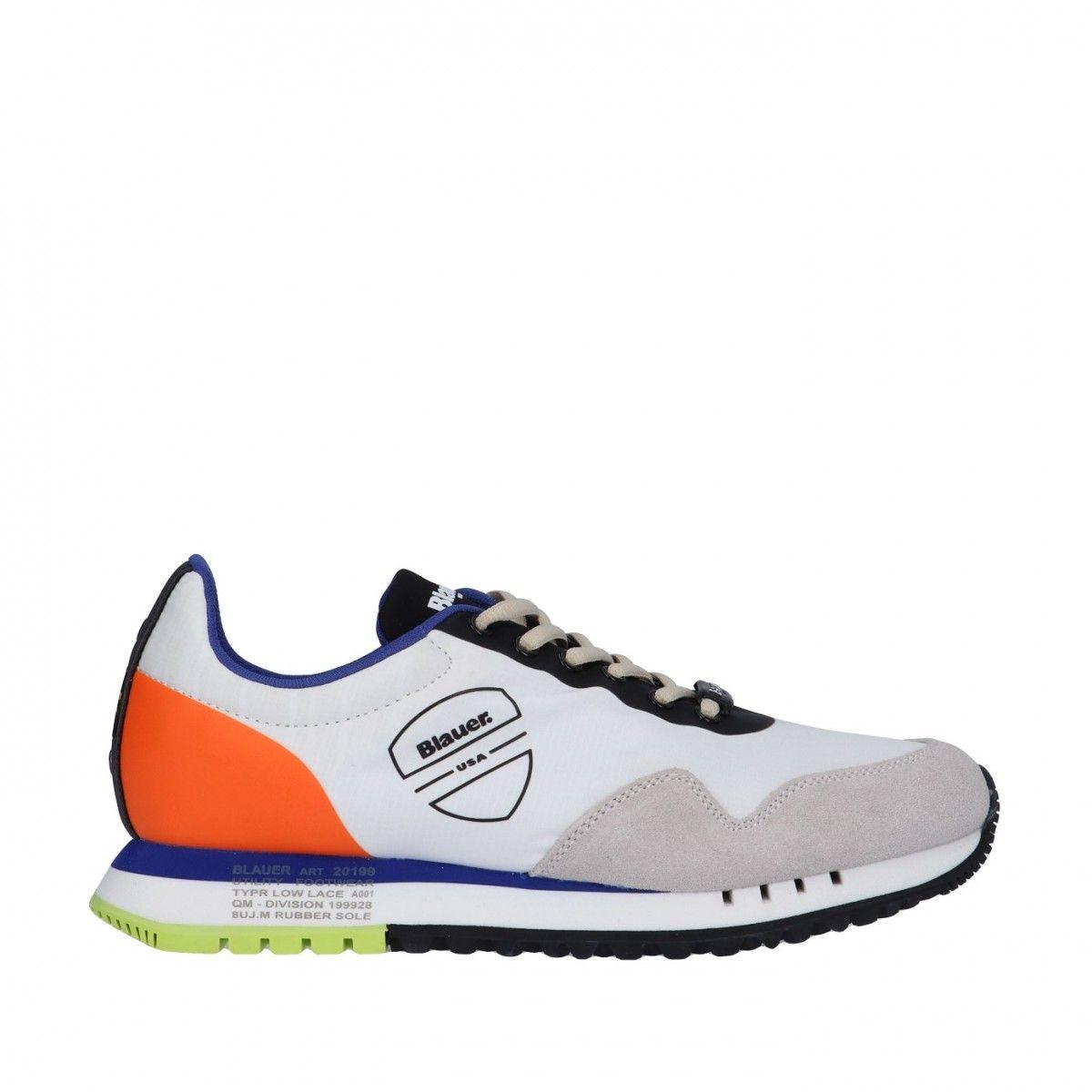 Blauer Sneaker Bianco Gomma...