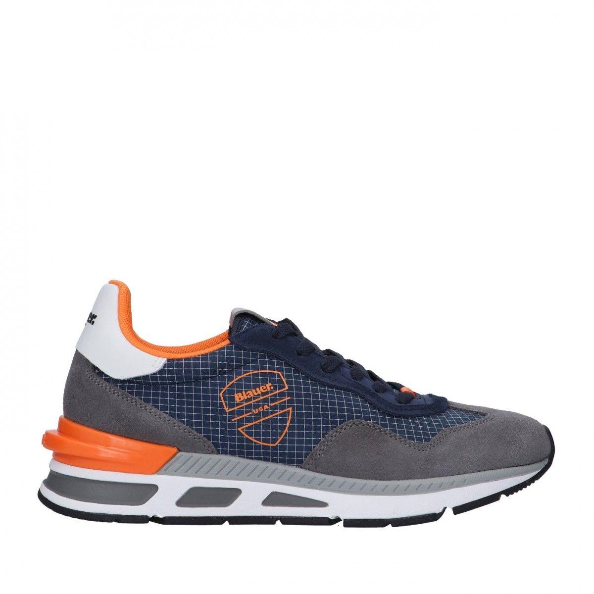 Blauer Sneaker Blu Gomma...