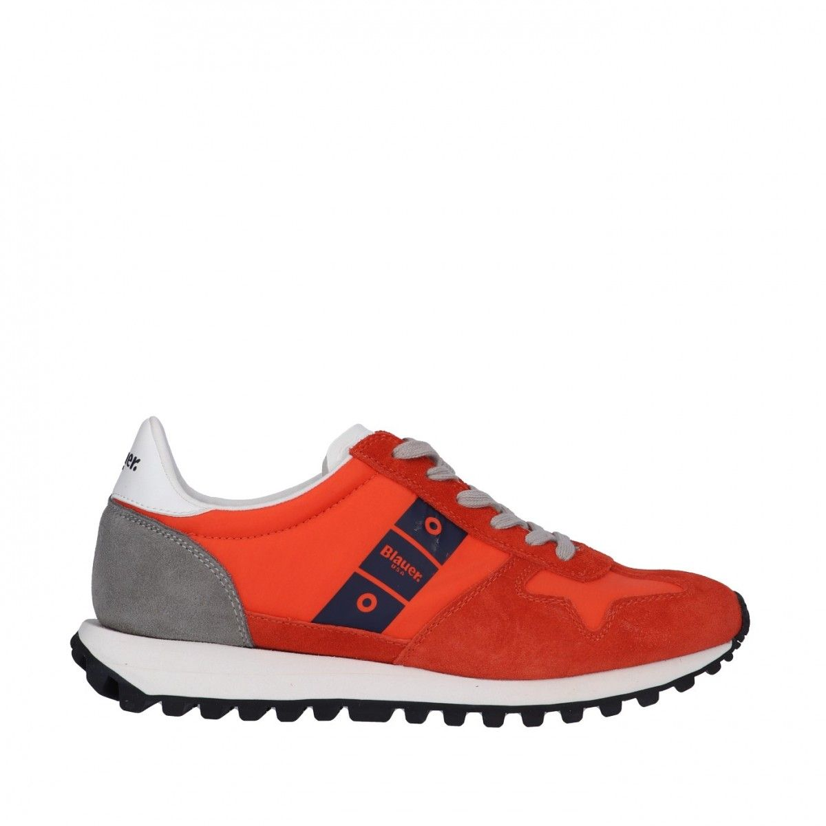 Blauer Sneaker Arancione...