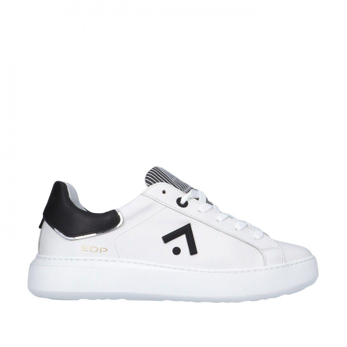 Ed parrish Sneaker Bianco/nero Gomma CKLU-VT03
