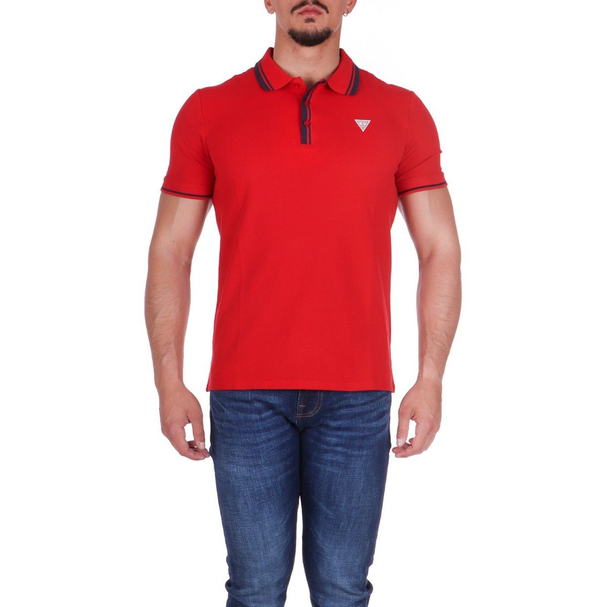 Guess Polo Rosso  M1RP60K7O61