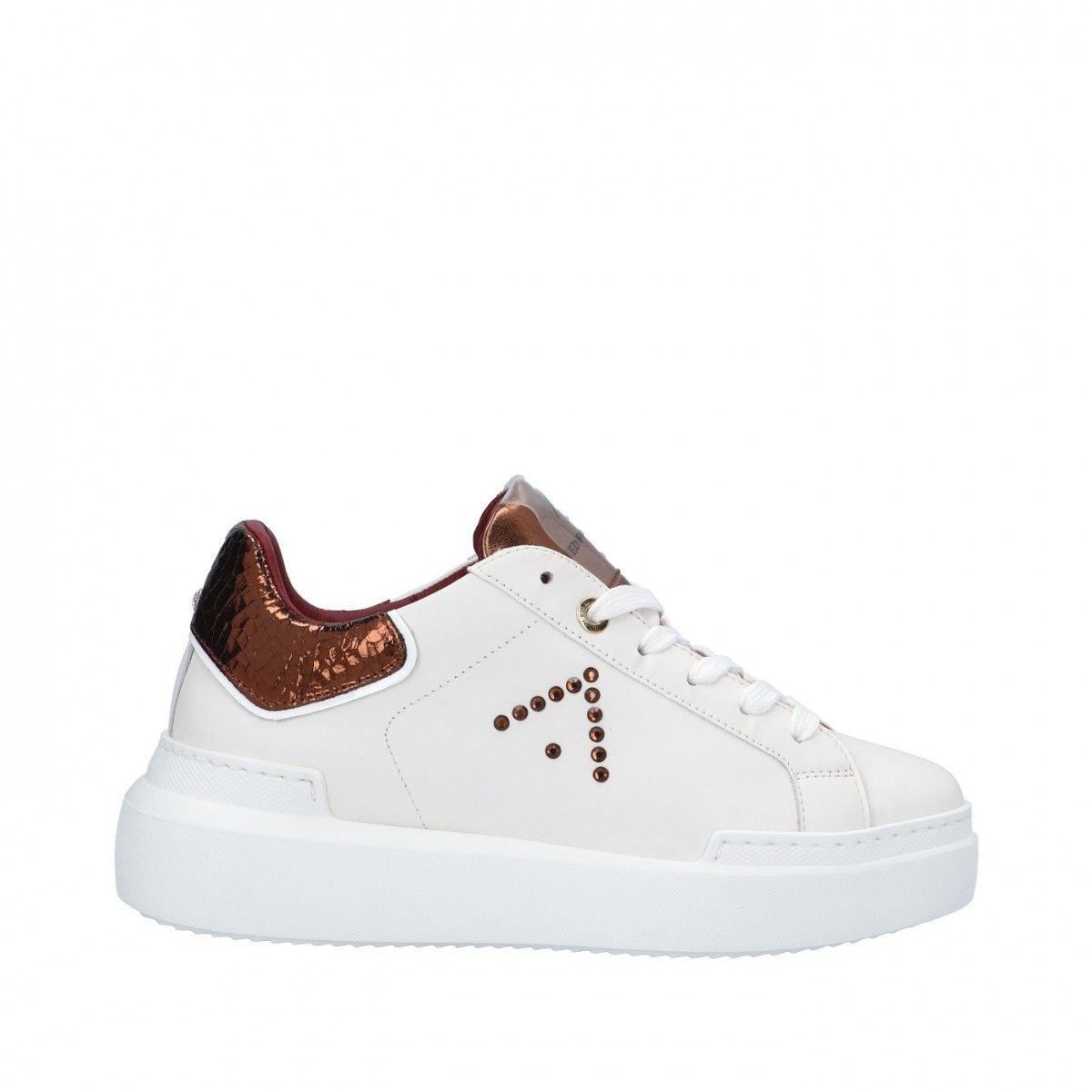 Ed parrish Sneaker Bianco/bronzo Gomma CKLD-SW31