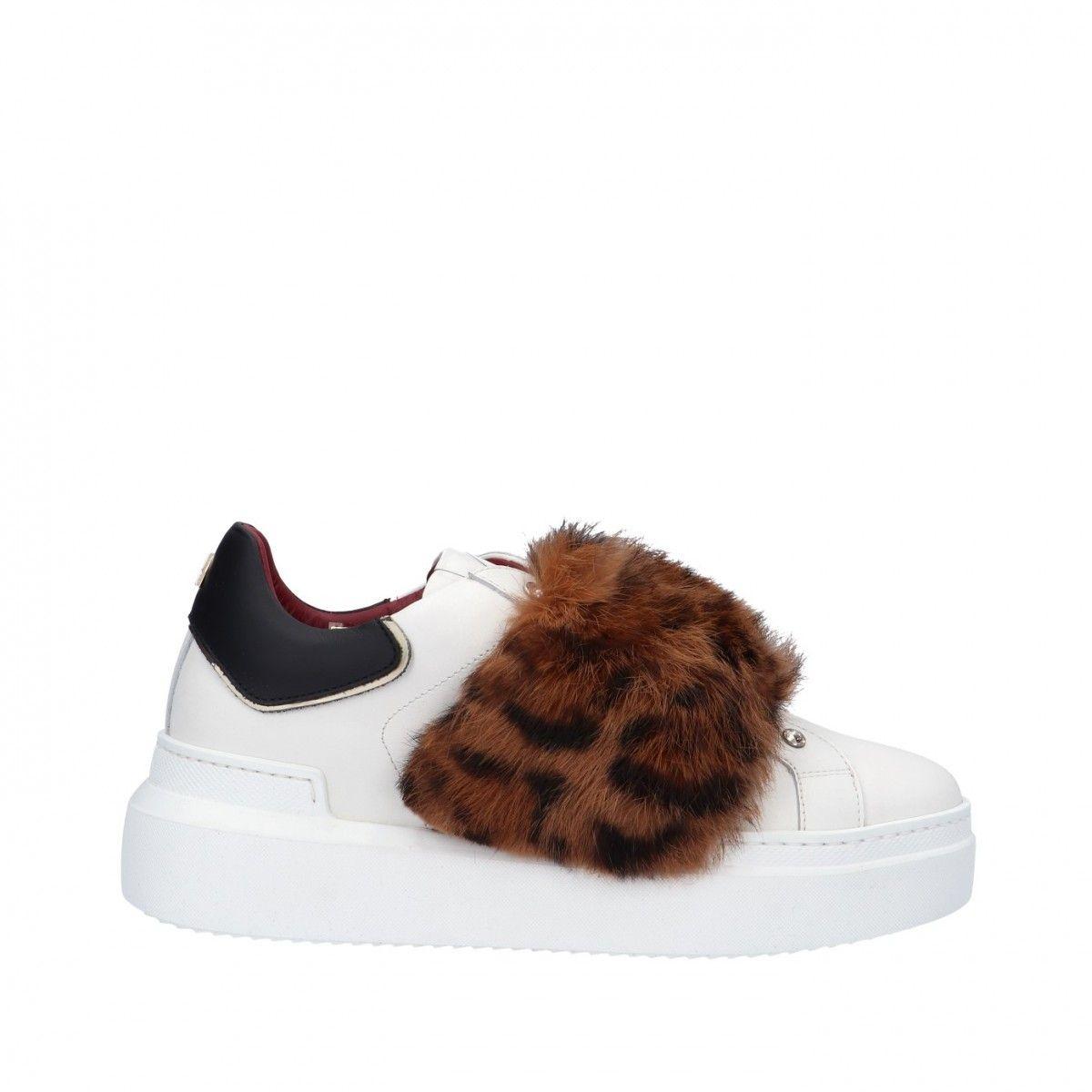 Ed parrish Sneaker Bianco/animalier Gomma CKLD-FA42